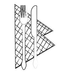 kitchen utensil cartoon vector image