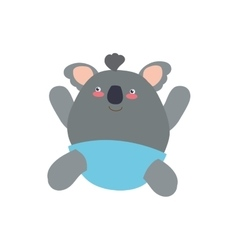 Koala cute animal little icon graphic vector