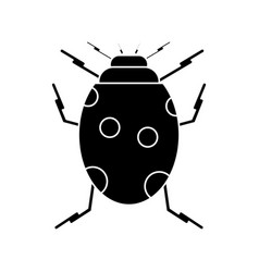 Ladybug insect nature icon pictogram vector