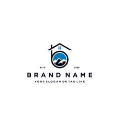 Letter b mountain home logo design vector