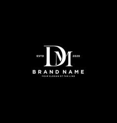 Letter dm logo design vector