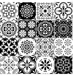 lisbon azujelo seamless tiles design vector image