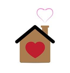 Love Heart House vector