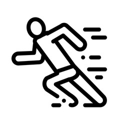 man in running action icon outline vector image