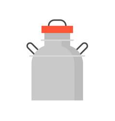 Metal milk tank flat icon vector