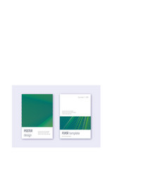 Minimalistic cover design template set green abst vector