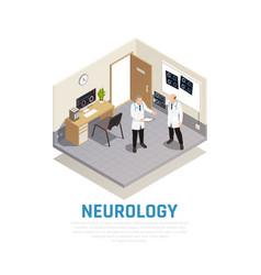 Neurology isometric composition vector