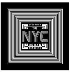 new york city typography design for t-shirt vector image