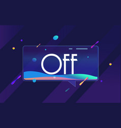 off in design banner template for web vector image