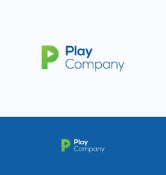 P play letter logo vector