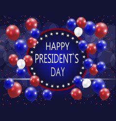 presidents day greeting card the inscription vector image