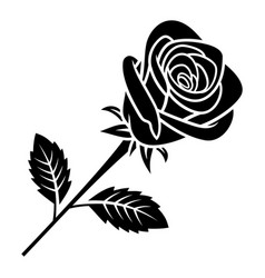 rose silhouette 005 vector image