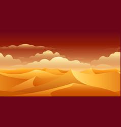 Sahara sand dunes panorama vector