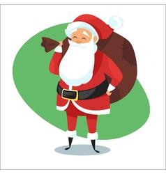 Santa with bag of gifts vector image