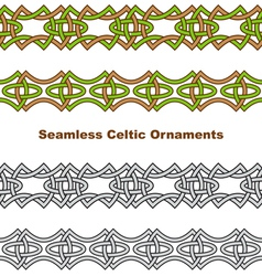 Seamless celtic borders vector