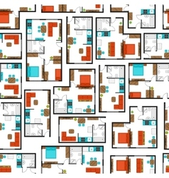 Seamless pattern with architectural projects of vector