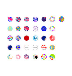 set of abstract circle logo template vector image