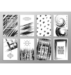 Set of creative universal cards Design for banner vector image