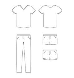 simple casual clothing vector image