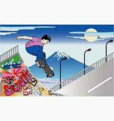 Skater guy vector