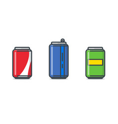 Soda can set vector