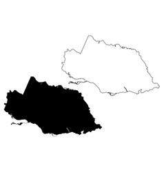 surrey county counties jamaica map scribble vector image