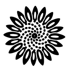 tattoo flower icon simple style vector image