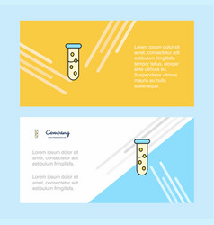 test tube abstract corporate business banner vector image