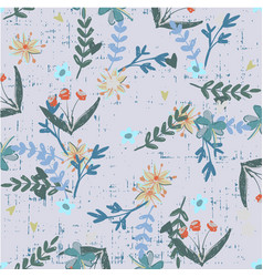 Trendy floral pattern in the many kind of flowers vector