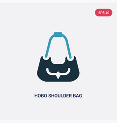 two color hobo shoulder bag icon from woman vector image
