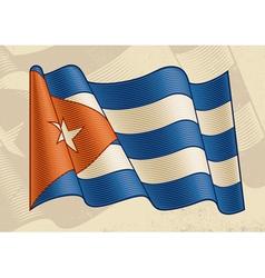 Vintage Cuban Flag vector image