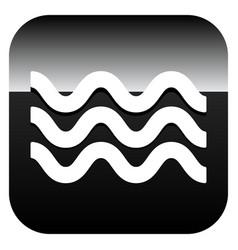 Waves icon icon for waving water ocean sea pool vector