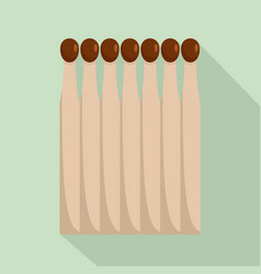 Wood matches icon flat style vector