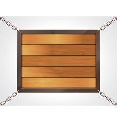 wooden billboard with chains vector image