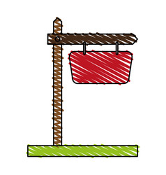 wooden sign icon image vector image