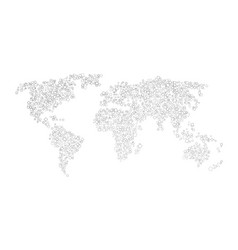 world map of black squares vector image