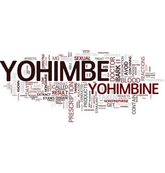 Yohimbe text background word cloud concept vector