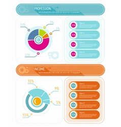 Abstract pie chart graphic for business design vector image
