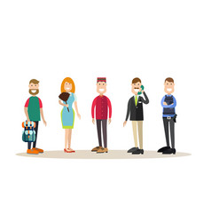 hotel people in flat style vector image