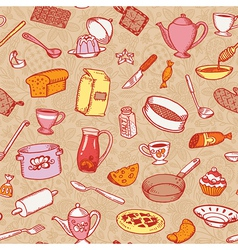 Kitchen And Cooking Pattern vector image vector image