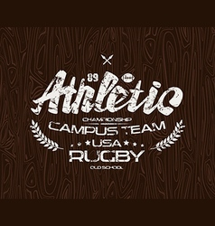 Rugby emblem vector image vector image