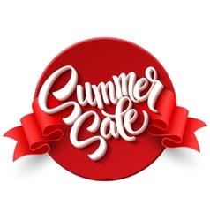 Summer sale Ribbon label vector image