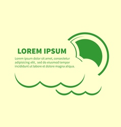 Sun and clouds icons with lorem ipsum text vector image vector image