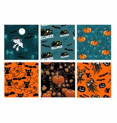 texture of halloween vector image