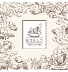 bakery retro background vector image vector image