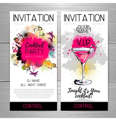 Cocktail party poster invitation design vector