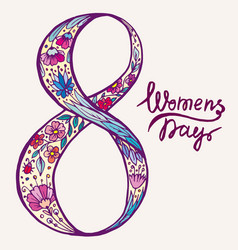 doodle figure eight female day vector image vector image