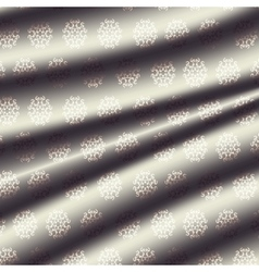 fabric metal light cream-colored curtain with a vector image
