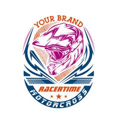 motocross design for t-shirt vector image