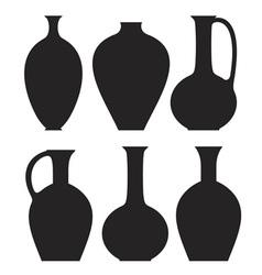 Vase Silhouette vector image
